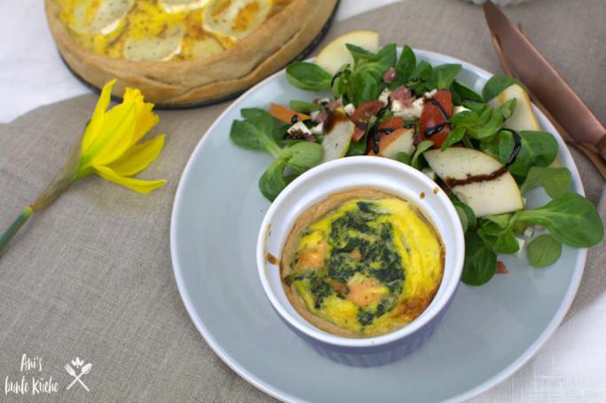 Oster Brunch Rezept: Mini Quiche mit Lachs und Spinat