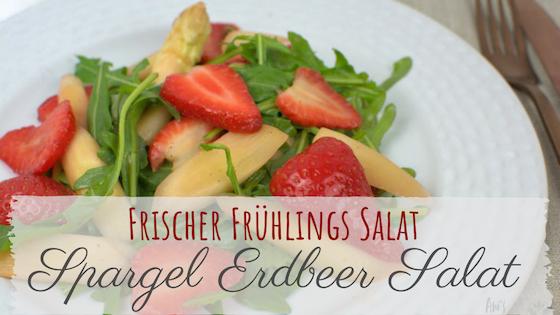 Rezept für frischen Spargelsalat mit Erdbeeren und Rucola.