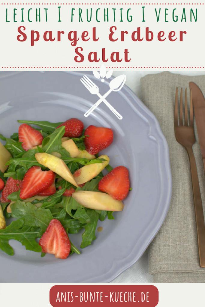 Spargelsalat mit Erdbeeren und Rucola vegan