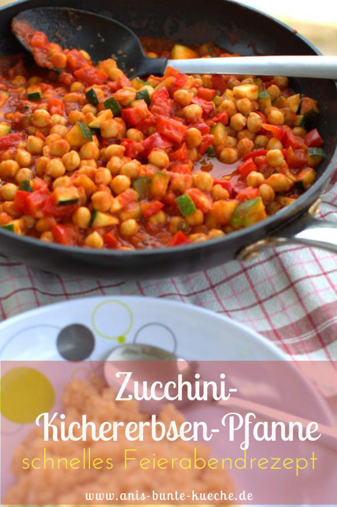 schnelles Rezept mit Zucchini und Kichererbsen - ohne Fleisch