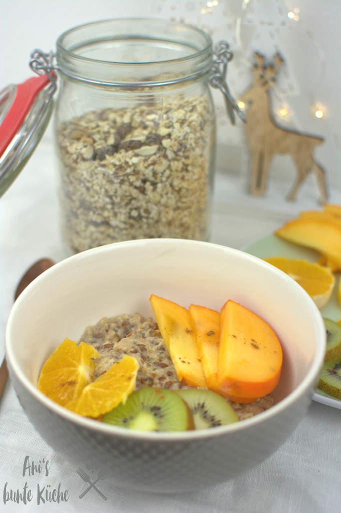 gebrannte Mandel Porridge aus der Mikrowelle