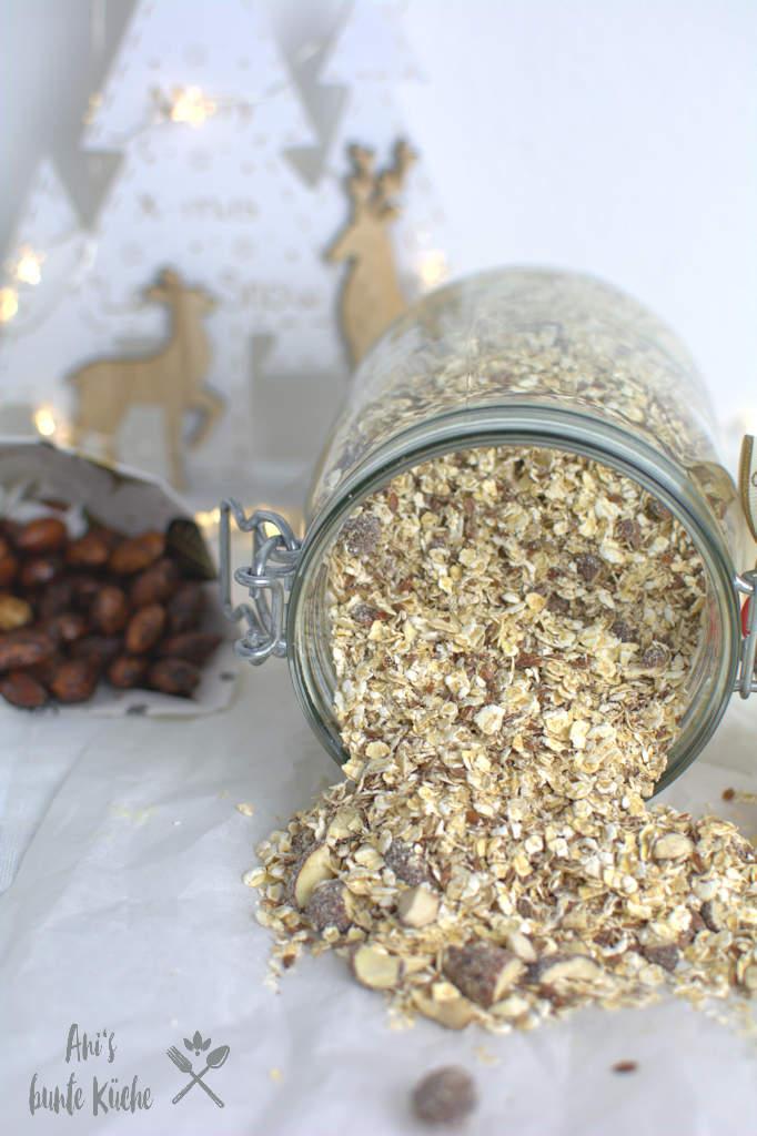 gebrannte Mandel Porridge als Geschenk im Glas