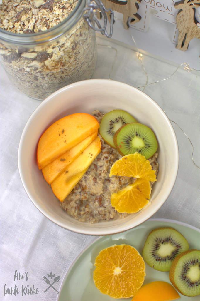 Winter Porridge mit gebrannten Mandeln