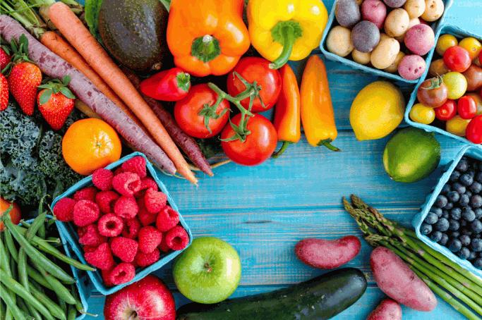 Obst und Gemüse vom Markt