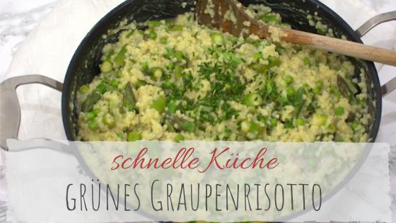 Rezept für Graupen-Risotto mit grünem Spargel