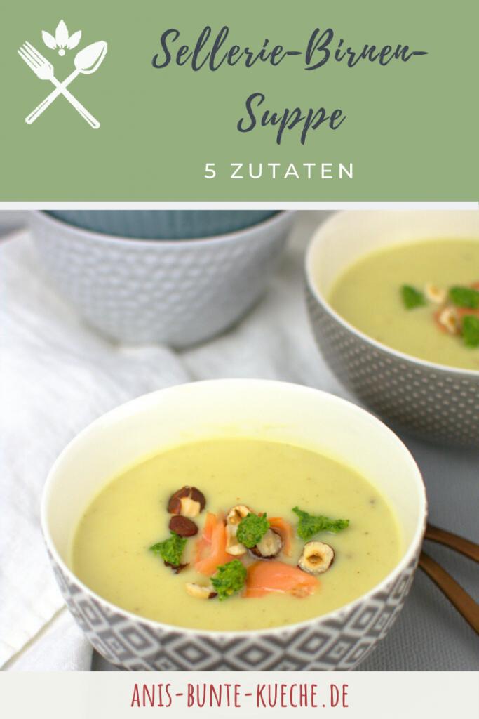 gesunde Sellerie-Birnen-Suppe aus 5 Zutaten.
