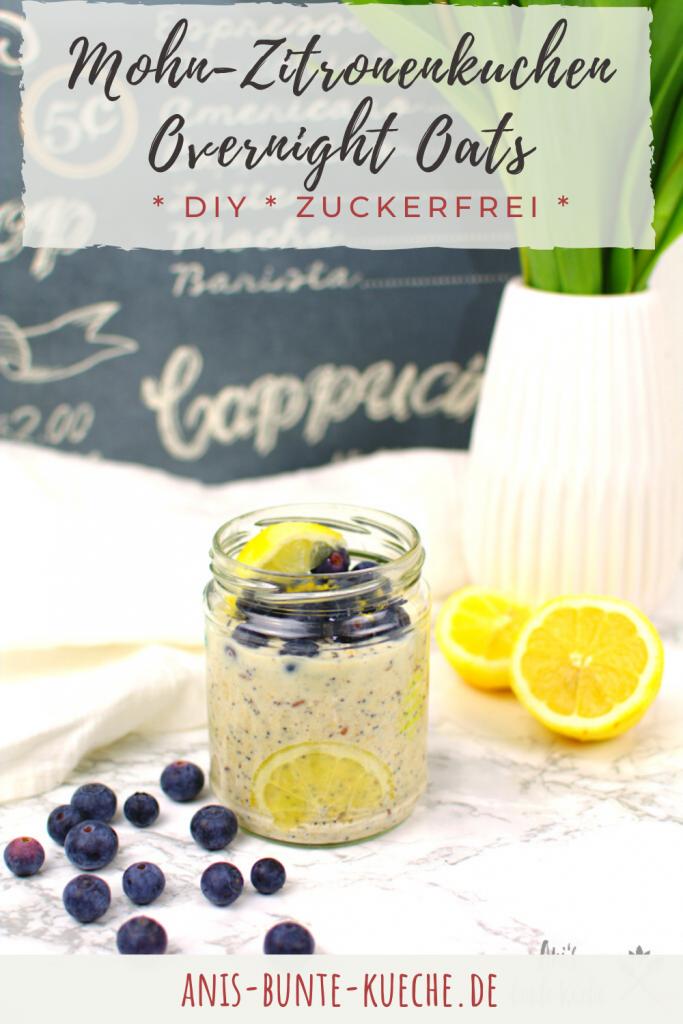 Mohn-Zitronenkuchen Overnight Oats DIY Mischung