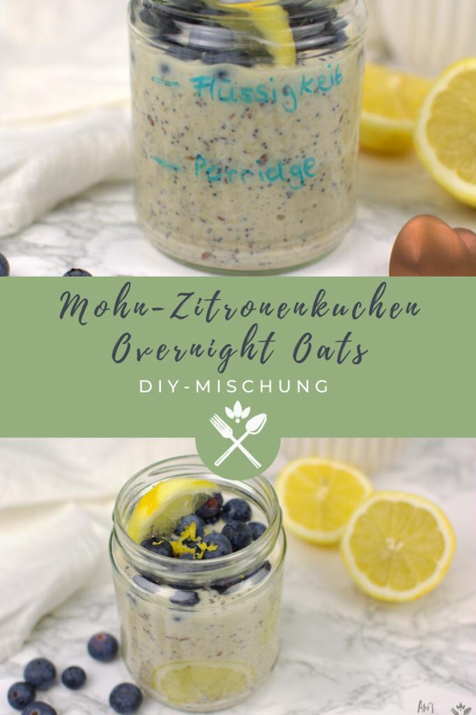 DIY Overnight Oats Mischung mit Mohn und Zitrone