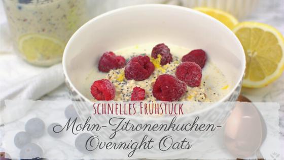 DIY Mohn-Zitronenkuchen Overnight Oats Mischung