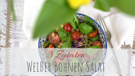 Rezept weiße Bohnen Salat mit Rucola und Tomate