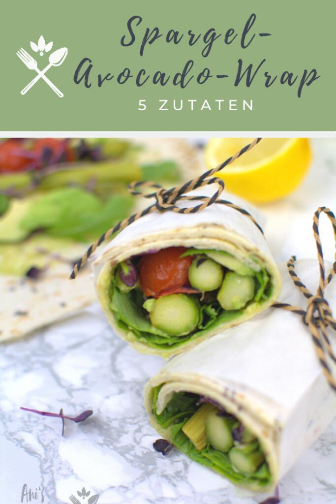 Spargel-Avocado-Wrap aus 5 Zutaten