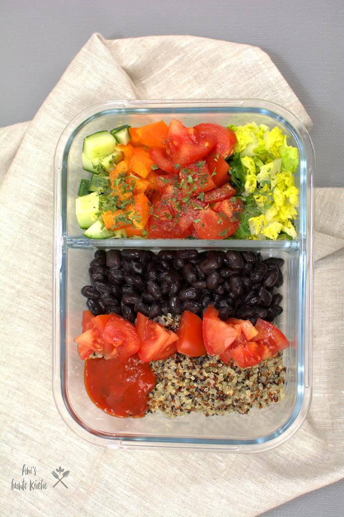 Gesunde mexikanische Salat Bowl