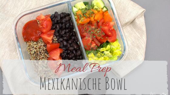 Mexikanische Bowl mit Salsa und schwarzen Bohnen