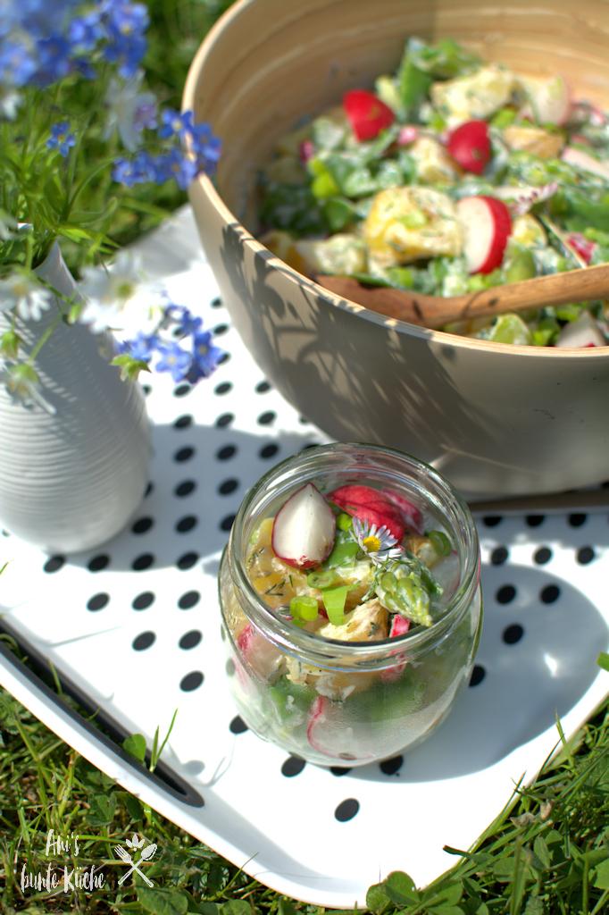 Frühlings-Kartoffelsalat mit grünem Spargel