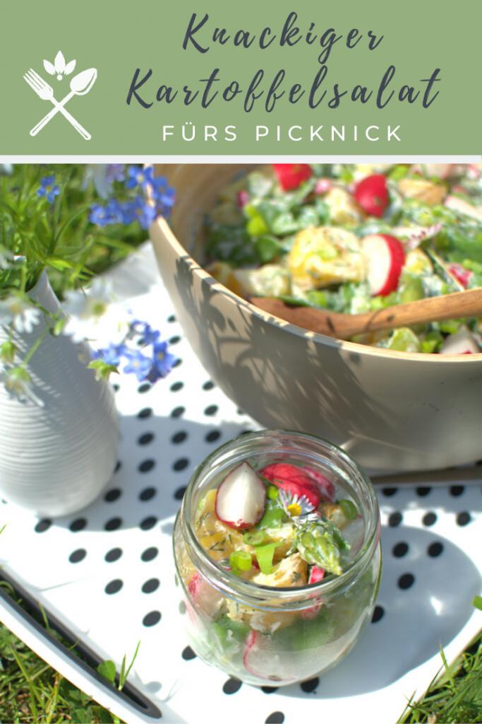bunter Kartoffelsalat mit knackigem Gemüse fürs Picknick