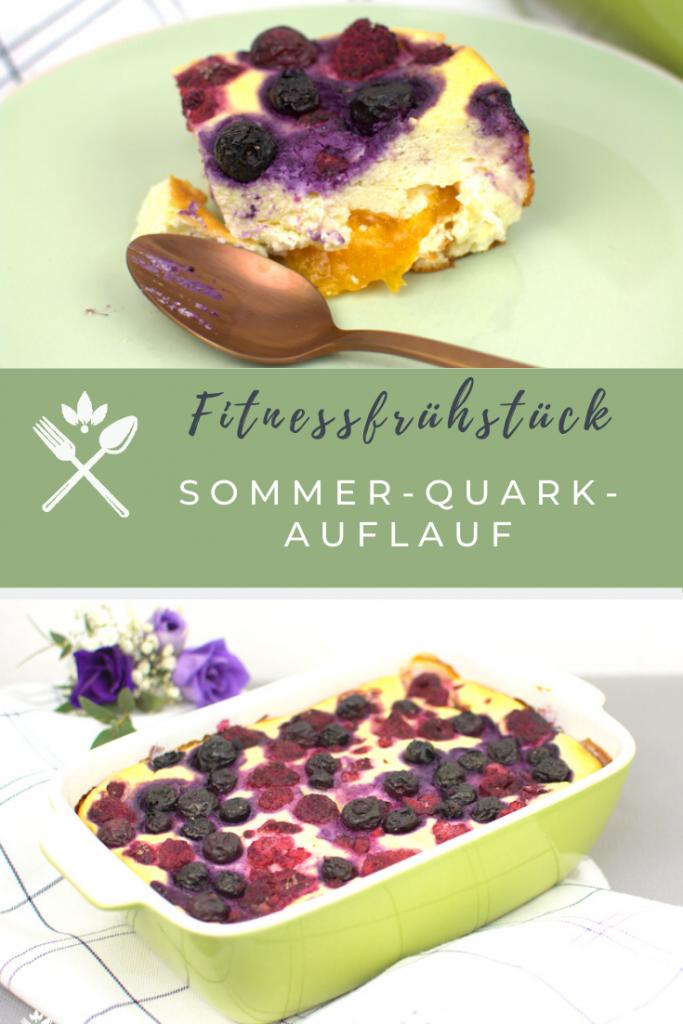 Fitnessfrühstück - Sommer Quark-Grieß-Auflauf
