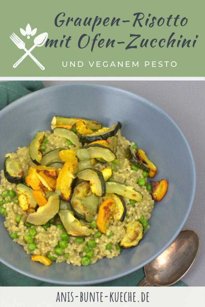 veganes Graupen-Risotto mit Zucchini