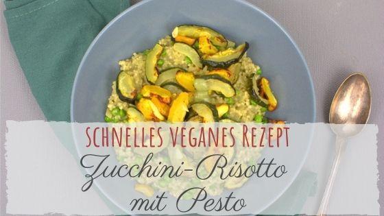 Pesto-Graupen-Risotto mit Ofen-Zucchini - veganes Rezept