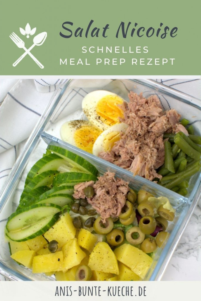 gesundes Meal prep Nizza Salat