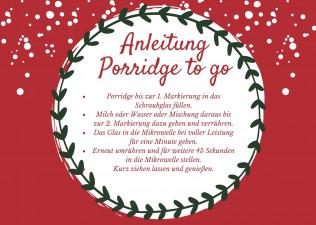 Anleitung Porridge to go in der Mikrowelle.