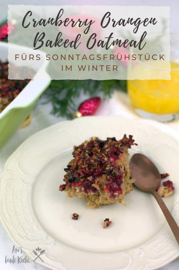 Winterfrühstück: Haferflockenauflauf mit Cranberries