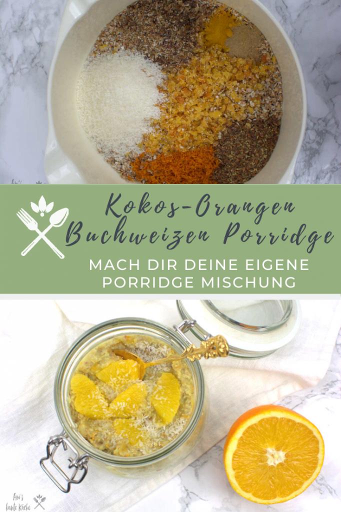 DIY Kokos-Orangen Porridge mit Buchweizen