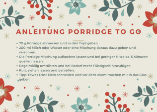 Anleitung Porridge to go im Topf