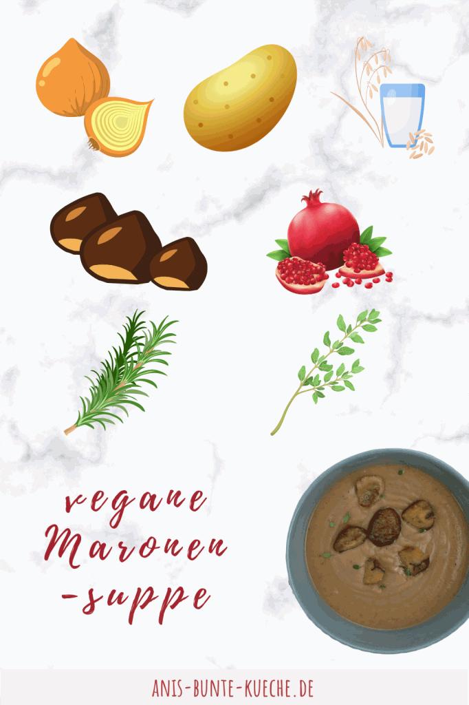 vegane Maronensuppe aus 7 Zutaten