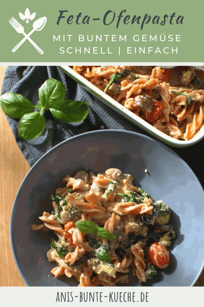 einfache Feta-Ofen Pasta mit Tomaten und Brokkoli