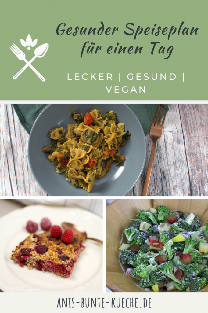 gesunder veganer Speiseplan