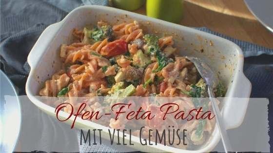 Rezept für Feta Ofen Pasta mit Tomaten, Brokkoli und Champignons.