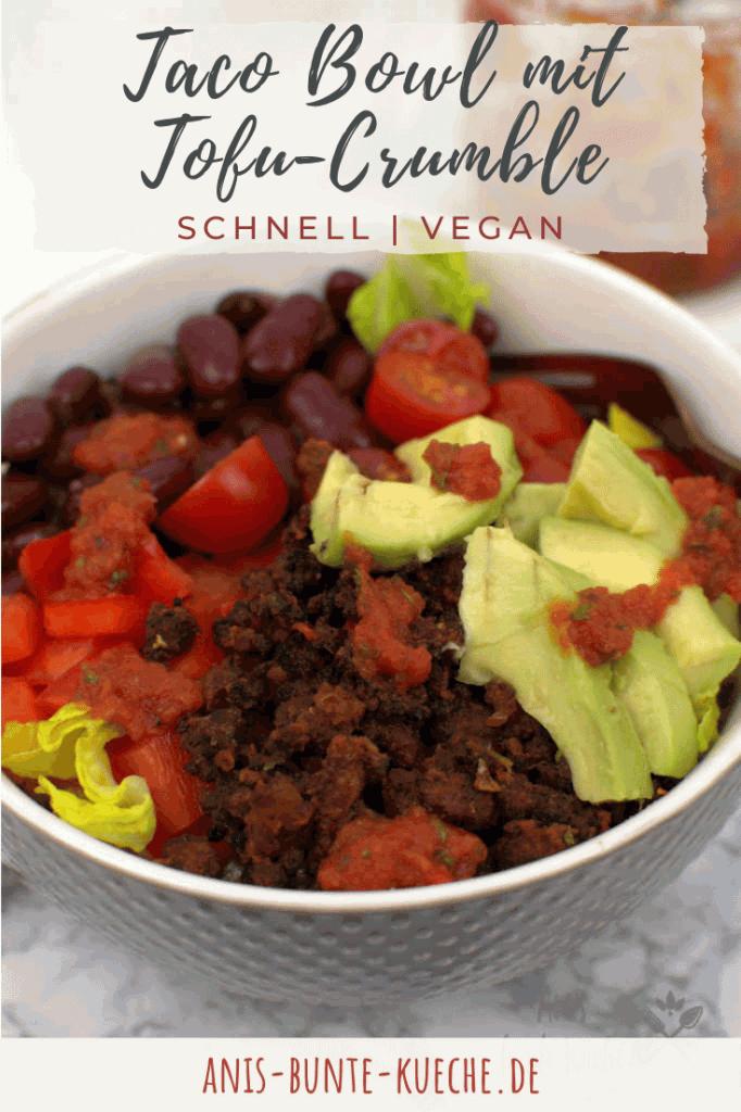 vegane Taco Bowl mit Tofu