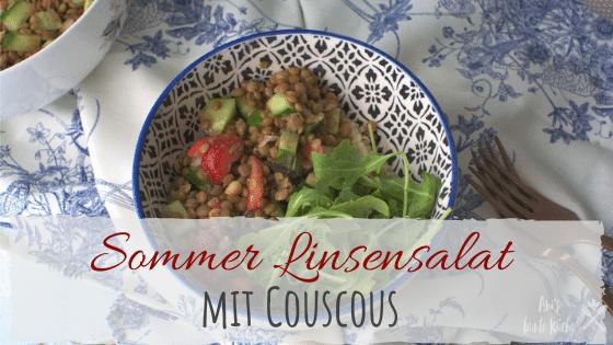 Rezept Sommer Linsensalat mit Couscous