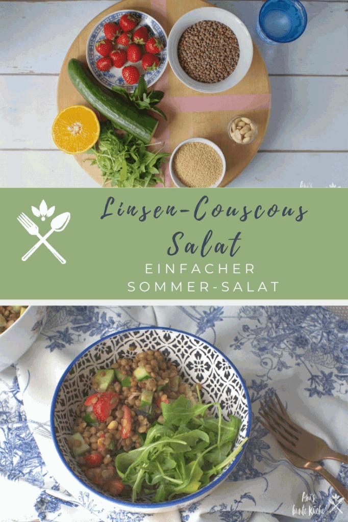 Sommer Linsensalat mit Couscous