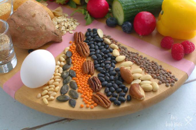 Pflanzliche Proteine gehören zum MyPlate Teller.